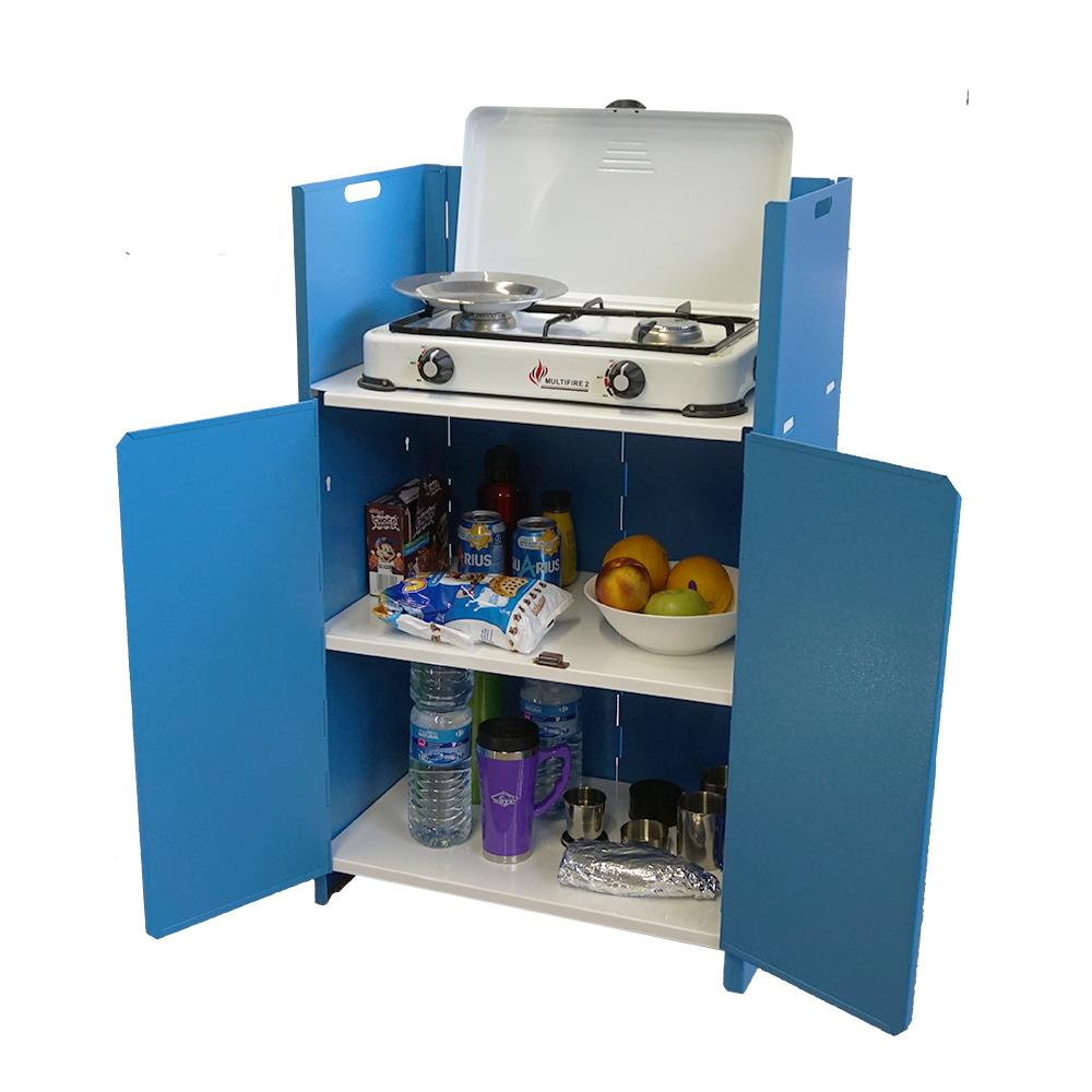 Armario de cocina plegable locust kitchen camp met lico for Armario plegable camping